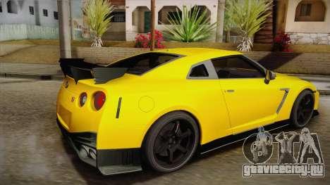 Nissan GT-R Nismo 2017 для GTA San Andreas