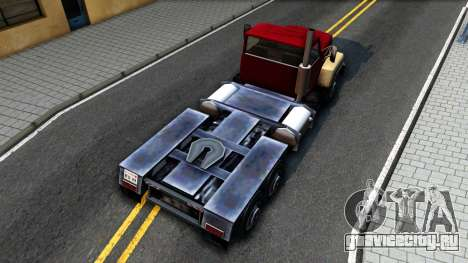 Cement Truck для GTA San Andreas вид сзади