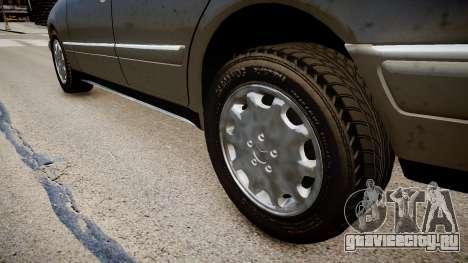 Mercedes E280 w210 1998 для GTA 4 вид сзади