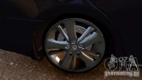 Toyota Camry V50 Stock для GTA 4 вид сзади