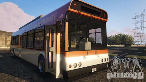 Portugal, Madeira Bus H.Funchal Low Entry Skin для GTA 5 вид сзади