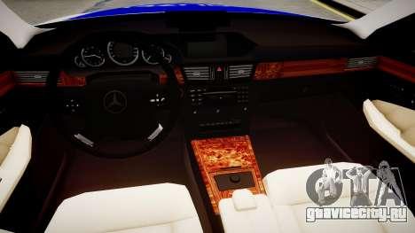 German Police Mercedes Benz E350 для GTA 4 вид изнутри