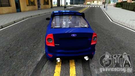 Ford Focus 2 Sedan RS Beta для GTA San Andreas вид сзади слева