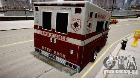 Vapid Steed Ambulance для GTA 4 вид сзади слева