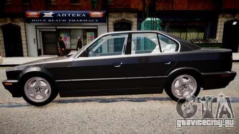 BMW 540i E34 для GTA 4 вид слева