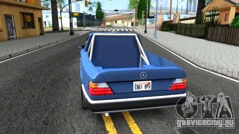 Mercedes-Benz W124 Pickup для GTA San Andreas вид сзади слева