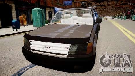Toyota Land Cruiser VXR 1999 для GTA 4 вид сзади слева