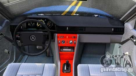 Mercedes-Benz W124 Pickup для GTA San Andreas вид изнутри