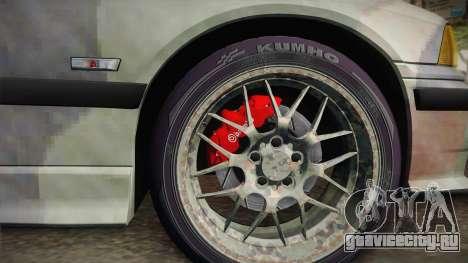 BMW M3 E36 TANK для GTA San Andreas вид сзади слева