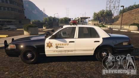 Ford Crown Victoria P71- LA Co. Sheriff 1999 для GTA 5 вид слева