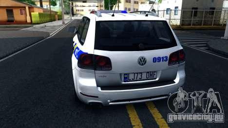 Volkswagen Touareg Полиция Украины для GTA San Andreas вид сзади слева