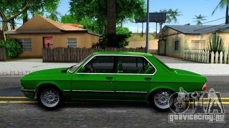 BMW 535i E28 для GTA San Andreas вид слева