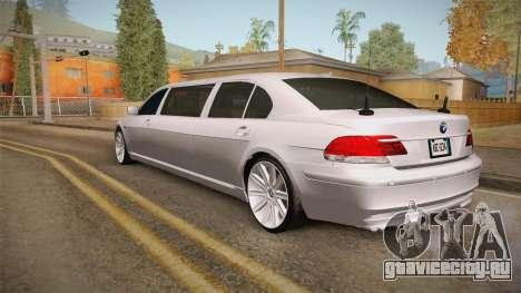 BMW E66 7-Series Limousine для GTA San Andreas