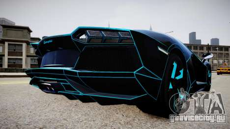 Lamborghini Aventador TRON Edition для GTA 4 вид сзади слева
