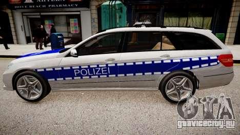 German Police Mercedes Benz E350 для GTA 4 вид слева