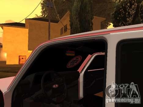 Niva 2121 Аrmenian для GTA San Andreas вид изнутри