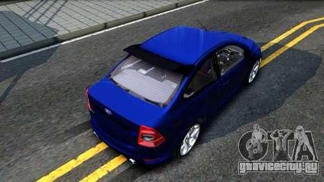 Ford Focus 2 Sedan RS Beta для GTA San Andreas вид сзади