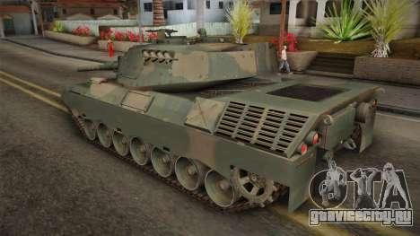 Leopard 1A5 Brazilian Army для GTA San Andreas вид слева