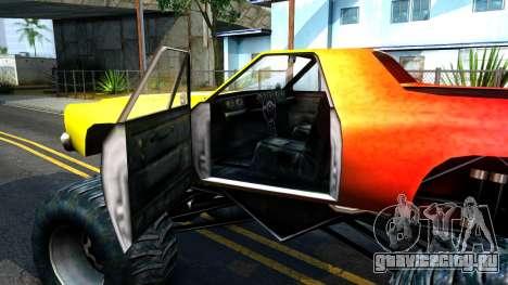 Marshall для GTA San Andreas вид изнутри