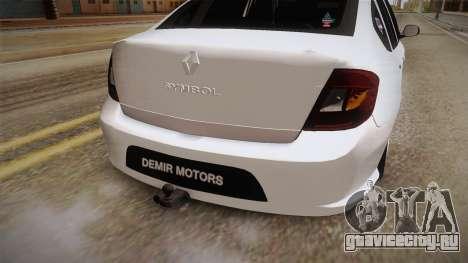 Renault Symbol для GTA San Andreas вид сбоку
