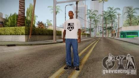 Белая футболка с брендом W.C. Choppers для GTA San Andreas третий скриншот