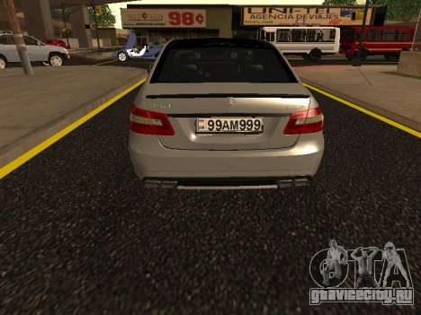Mercedes-Benz E63 Armenian для GTA San Andreas вид сзади