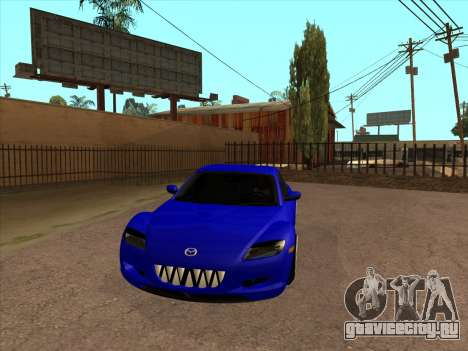 Mazda RX-8 для GTA San Andreas вид изнутри