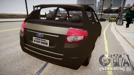Ford Kalina для GTA 4 вид сзади слева