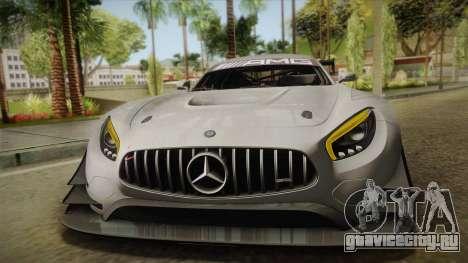 Mercedes-Benz AMG GT3 2016 для GTA San Andreas вид сверху