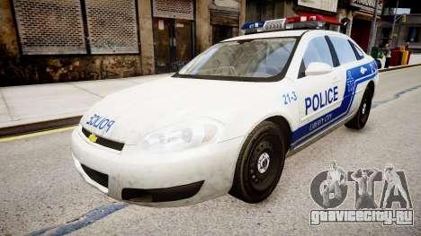 Chevrolet Impala Police для GTA 4 вид справа