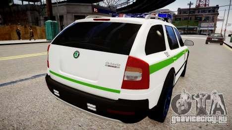 Lithuanian Police Skoda Octavia Scout для GTA 4 вид сзади слева