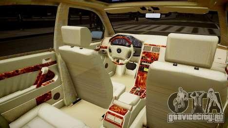 Mercedes E280 w210 1998 для GTA 4 вид изнутри