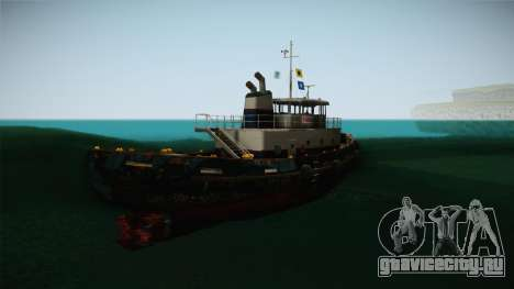 GTA 5 Buckingham Tug Boat для GTA San Andreas вид сзади слева