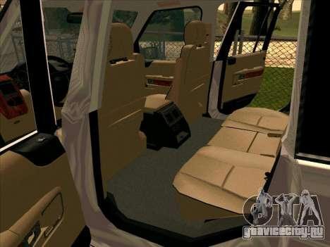 Range Rover Sport 2008 для GTA San Andreas вид сбоку