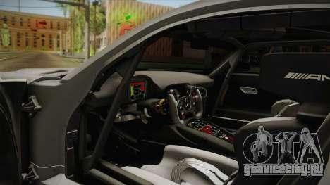 Mercedes-Benz AMG GT3 2016 для GTA San Andreas вид изнутри