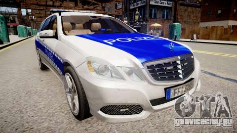 German Police Mercedes Benz E350 для GTA 4 вид справа