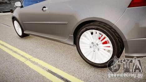 Volkswagen Golf R32 v1 для GTA 4 вид сзади