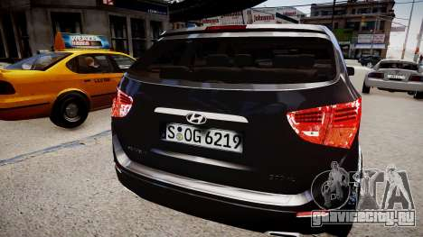 Hyundai Veracruz (ix55) 2009 для GTA 4 вид сзади слева