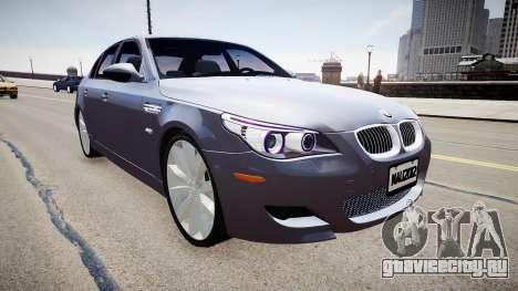 BMW M5 E60 2009 для GTA 4 вид справа