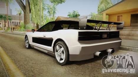 ZR Infernus для GTA San Andreas вид сзади слева