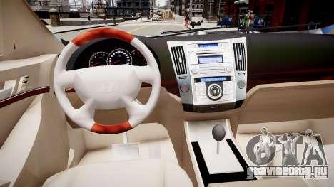 Hyundai Veracruz (ix55) 2009 для GTA 4 вид изнутри