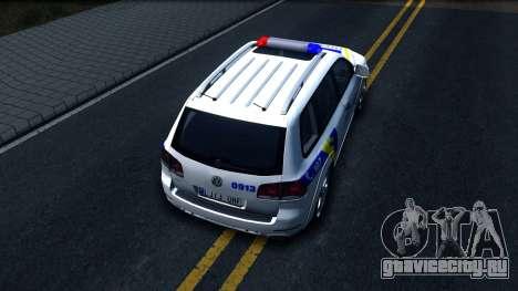 Volkswagen Touareg Полиция Украины для GTA San Andreas вид сзади
