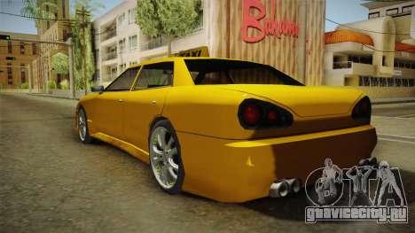 Elegy Taxi Sedan для GTA San Andreas вид слева