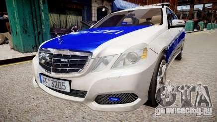German Police Mercedes Benz E350 для GTA 4