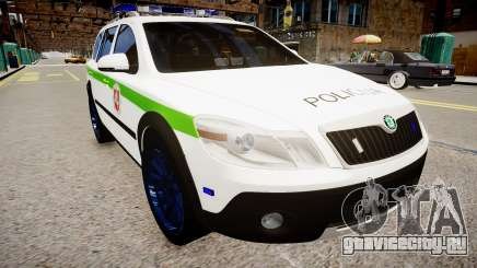 Lithuanian Police Skoda Octavia Scout для GTA 4