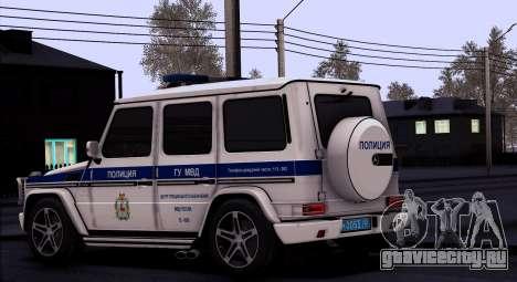 Mercedes-Benz G55 AMG ГУ МВД для GTA San Andreas вид слева