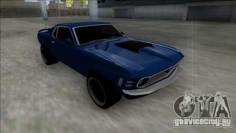 1970 Ford Mustang Boss 429 для GTA San Andreas вид изнутри