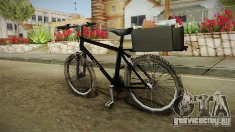 Police Mountain Bike для GTA San Andreas вид слева