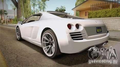 GTA 5 Pegassi Vacca 9F Roadster (Coupè) для GTA San Andreas вид слева