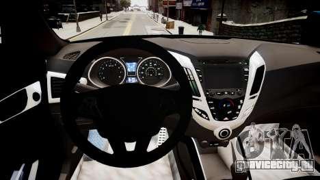 Hyundai Veloster Turbo 2012 vs 2.0 by Mauricio для GTA 4 вид изнутри
